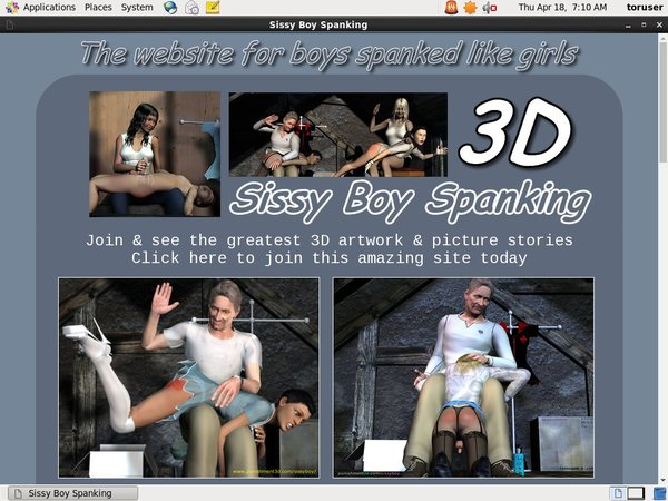 3D Sissy Boy Spanking Direct Pay