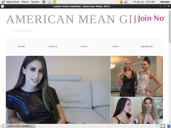 American Mean Girls Payment Page
